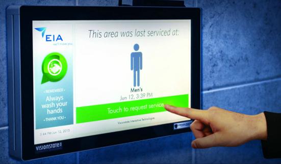 Des écrans dans les sanitaires !